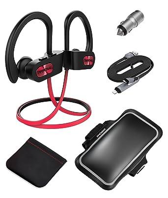 Auriculares Bluetooth, Mpow D3 Inalámbricos Impermeables IPX7, Cancelación de Ruido con Estéreo HD,