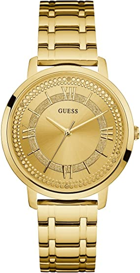 GUESS Women's Quartz Watch with Stainless-Steel Strap, Gold, 18 (Model: U0933L2)