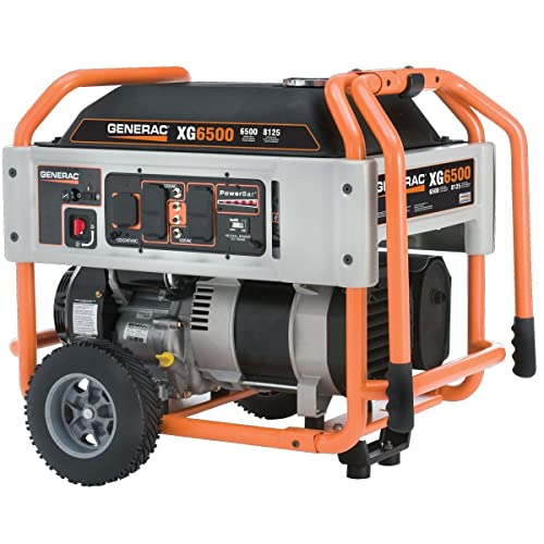 Generac 5796, 6500 Running Watts/8125 Starting Watts, Gas Powered Portable Generator