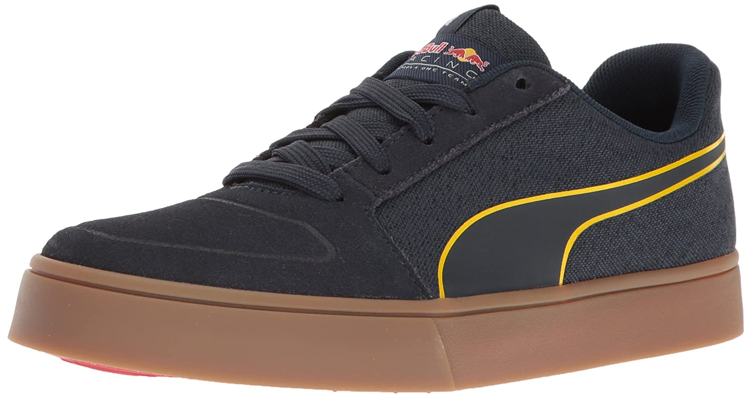 PUMA Men's RBR Wings Vulc Suede Walking Shoe Total Eclipse-chinese Red-spectra Yellow