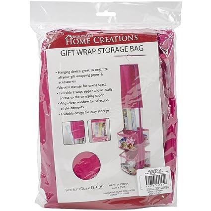 fcc798f0d345 Innovative Home Creations Gift Wrap Storage Holder, Fuchsia