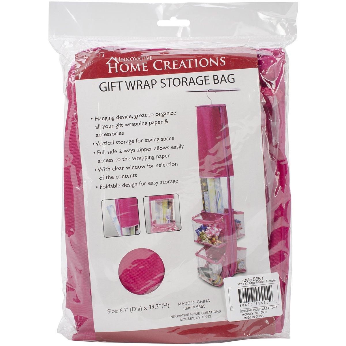 Innovative Home Creations Gift Wrap Storage Holder, Fuchsia