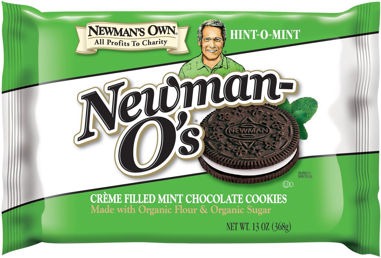 Newman's Own Newman-O's Sandwich Crèmes, Hint-O-Mint, 13-Oz. (Pack Of 6)