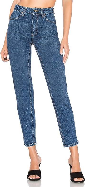 H HIAMIGOS Mujer Vaqueros Básicos Jeans Mom Fit Tiro Alto Pantalón Vaquero para Mujer
