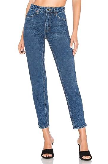 b39f544fd1145 H HIAMIGOS Jean Mom Slim Taille Haute Jeans Boyfriend Femme Pantalon en  Denim Rétro Vintage à délavage Bleu: Amazon.fr: Vêtements et accessoires