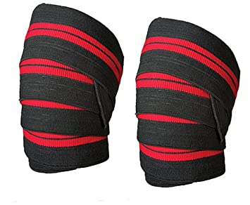 HemeraPhit Elastic Knee Wraps Weight Lifting Knee Pads Support - Weight lifting floor pads