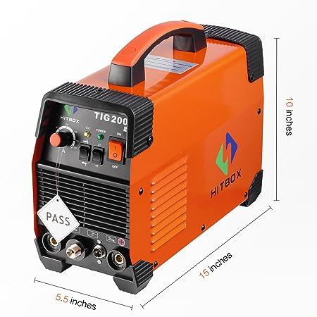 Máquina de soldadura TIG portátil de 200 amperios de alta frecuencia 220 V TIG MMA 200 con soldadora de inversor TIG IGBT HITBOX: Amazon.es: Bricolaje y ...