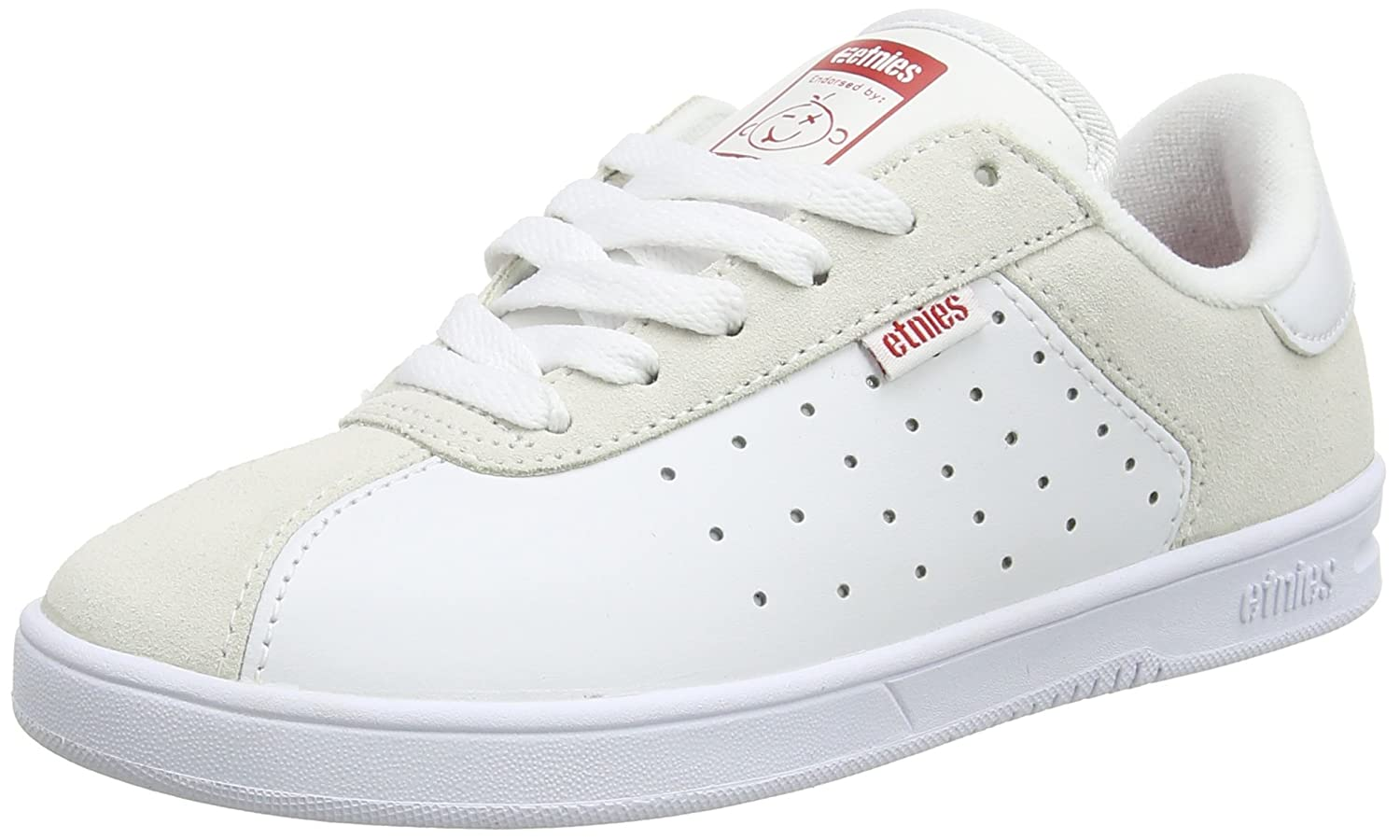 Etnies Women's The Scam W's Skate Shoe B01IE744S4 6.5 B(M) US|White