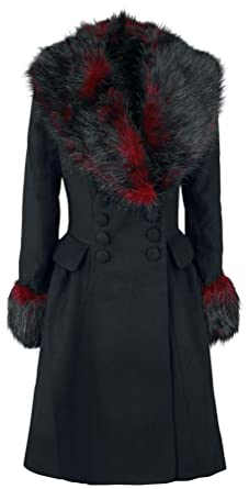 it Nero Coat Rock Abbigliamento Donna Hell Bunny Cappotto Noir Amazon x1wYgR8nqt