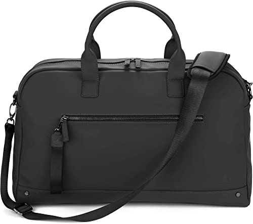The Friendly Swede Weekender Bag, Duffle Overnight Bag – High-end Vreta Collection – 35L Travel Duffel, Weekend Bag For Women and Men Black