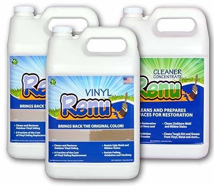amazon com vinyl renu 2 gallon siding restoration kit will restore