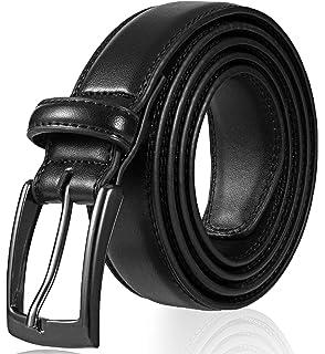 Amazon.com: Cinturones de vestir de piel auténtica para ...