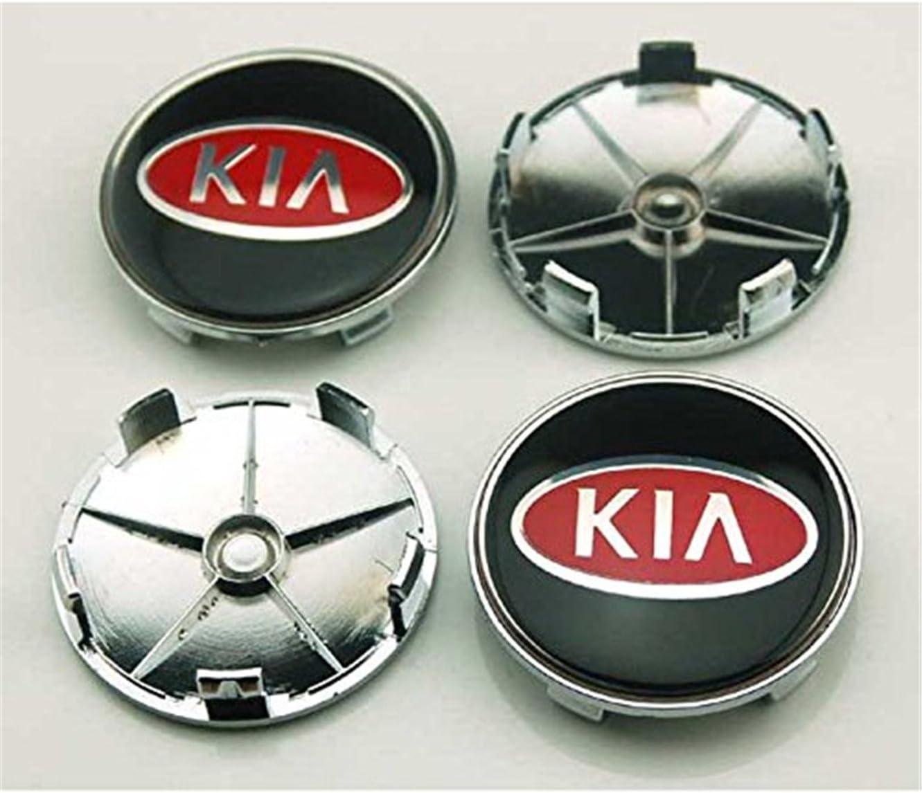 shangmao369 4pcs W028 68 mm coche estilo accesorios emblema insignia pegatina tapacubos tapas Centro cubierta Kia Rio Ceed SOUL SPORTAGE K2 K3 K5 K7: Amazon.es: Coche y moto
