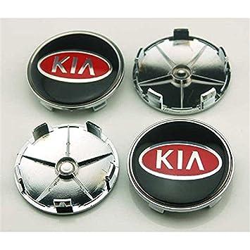 shangmao369 4pcs W028 68 mm coche estilo accesorios emblema insignia pegatina tapacubos tapas Centro cubierta Kia Rio Ceed SOUL SPORTAGE K2 K3 K5 K7: ...