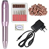 Metallic Beautiful Portable Easy to Operate Pen Shape Electric Nail Drill for Professional Nail Division or Personal to Trimming Nails
