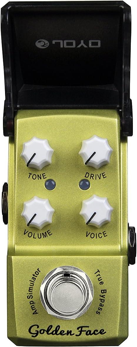 JOYO JF-308 de oro Cara Amp Sim mini-efectos para guitarra Pedal ...