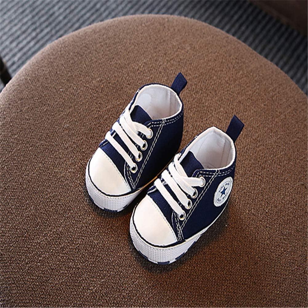 Healthy Clubs Niedlich Kind Baby S/äugling Junge M/ädchen weiche Sohle Kleinkind Schuhe Leinwand Sneak Babyartikel 0-6 Monat