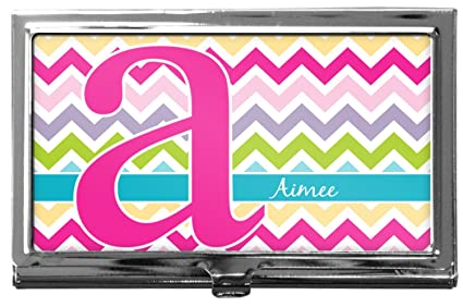 colorful chevron business card holder - Chevron Business Card
