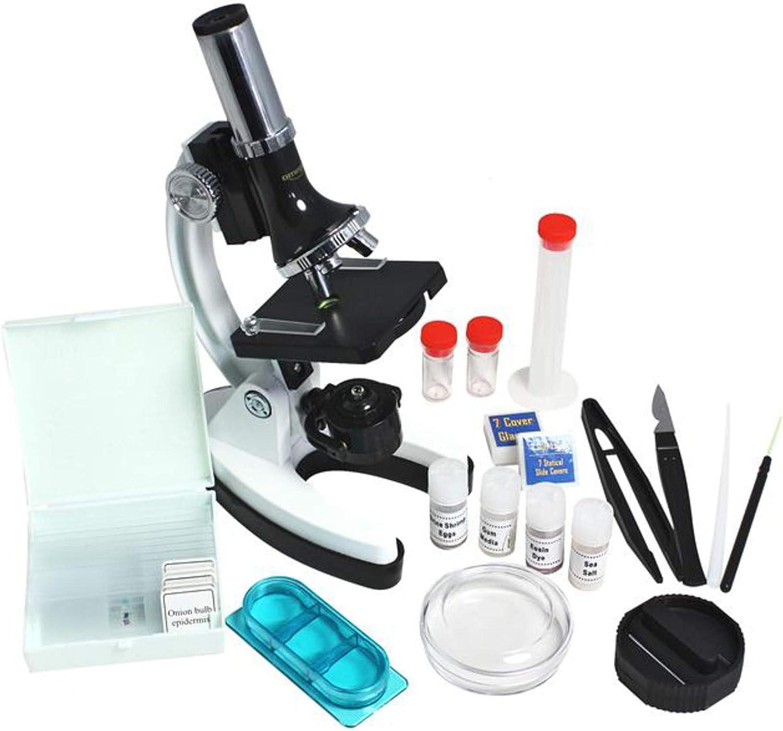 Omegon Microscopio MonoView Juego de microscop/ía,1200x