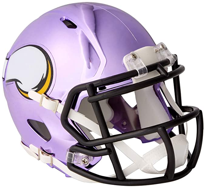 e8e97fee013ff2 Amazon.com : Riddell Chrome Alternate NFL Speed Authentic mini Size Helmet  Minnesota Vikings : Clothing