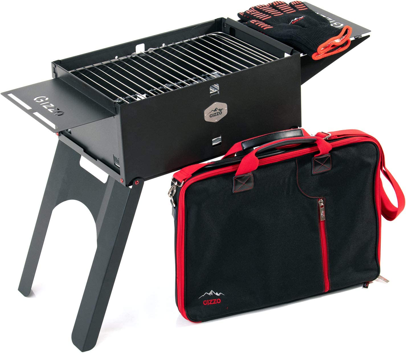 Gizzo Grill Barbacoa portátil con Parrilla de carbón, Plegable, Pícnic y Camping