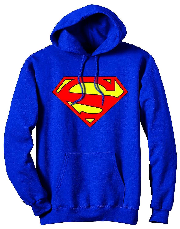 Superman 52 Symbol Blau Kapuzen-Sweatshirt