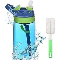 flintronic Botella Agua con Pajitas, Botella de Agua para Niños, 480ml/16OZ Botella a prueba de Fugas, Grado alimenticio…