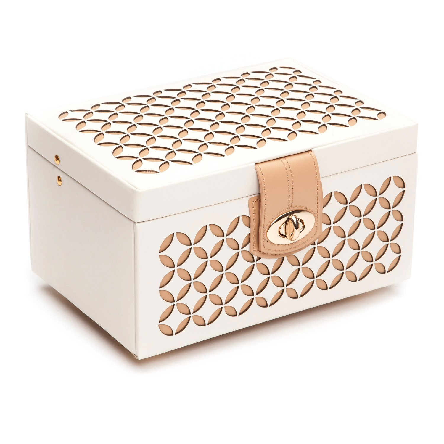 Amazoncom WOLF 301153 Chloe Small Jewelry Box Cream Home Kitchen