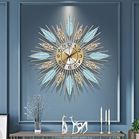 Amazon Com Xuexiongsp 28 In Mid Century Mantle Clock Starburst Wall Clock Large Mid Century Modern Wall Clock Unique Modern Design Sunburst Clock Mid Century Wall Decor For Living Room Kitchen Bedroom H 27in Home