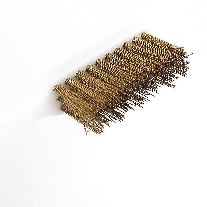 5 Stk Kunststoff Handgriff Messingbürste Draht Reinigung Zahnbürste Drahtbürste