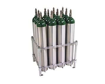 Stack & Rack Oxygen Tank Storage Rack - Holds 12 E Size Cylinders by WT  Farley Inc