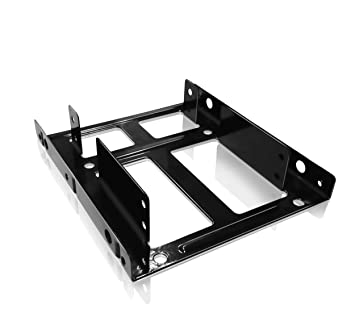icy box ib ac643 internal mounting frame for 2x 25 inch ssdhdd to