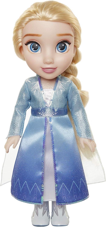 Disney muñeca Princesa Elsa con Vestido, Capa y Botas de Viaje de Frozen II, Toddler 35 cm
