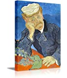 "Wall26 - Dr Paul Gachet by Vincent Van Gogh - Oil Painting Reproduction on Canvas Prints Wall Art, Ready to Hang - 24"" x 36"""