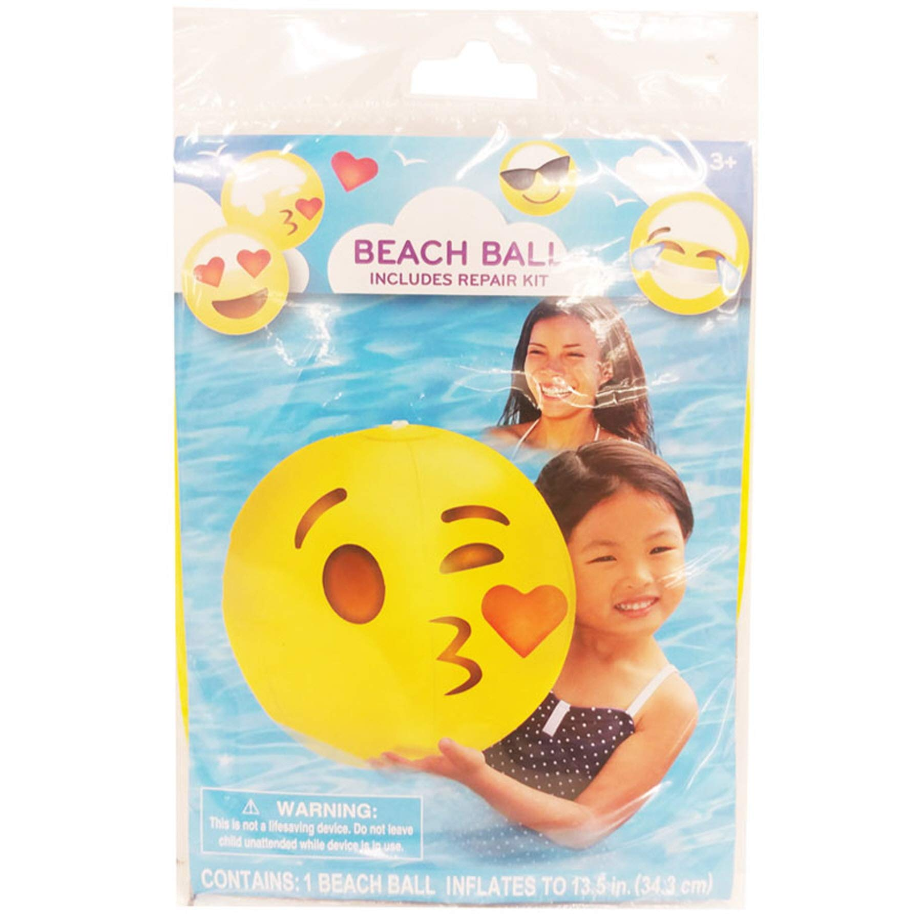 (Pack of 36) Beach Ball Emoji Asstorted Party Flavor