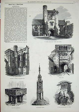 kathedralen cuadrado de casetas de Torre de Winchester sters 1878 Horizontal: Amazon.es: Hogar