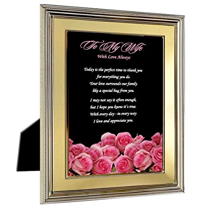 to my wife from husband gift with love always poem in 5x7 inch frame for her