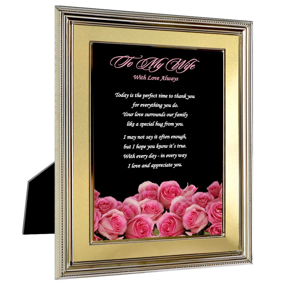 Poetry Gifts Wife from Husband Gift with Love Always for Birthday or Anniversary