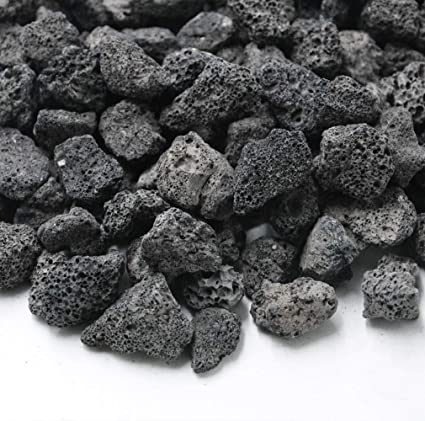 Amazon Com Skyflame Black Natural Stones Lava Rock Granules For Gas Fire Pit Fireplace Gas Log Set Bbq Grills Garden Landscaping Decoration Cultivation Of Potted Plants