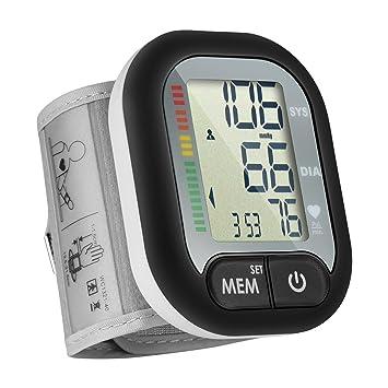 Tensiómetro de Muñeca,Monitor de Presión Sistólica y Diastólica,Detector de la Presión Arterial Anormal y de Latidos Cardíacos Irregulares,60 ...