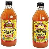 Bragg USDA Gluten Free Organic Raw Apple Cider Vinegar, With the Mother MAjVyk, 2Pack (16 oz)