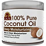 OKAY | 100% Pure Coconut Oil | For All Hair Textures & Skin Types | Moisturize - Massage - Condition | Excellent Source of Vi