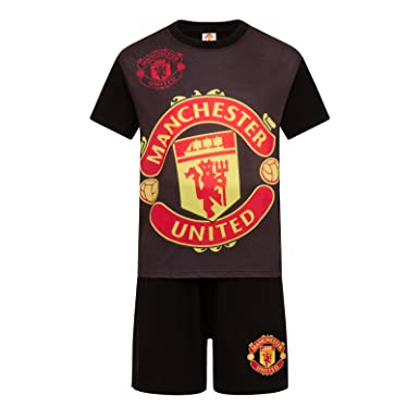 a2a0f7490cdbe Amazon.com: Manchester United Football Club Official Soccer Gift Boys Short  Pajamas: Clothing
