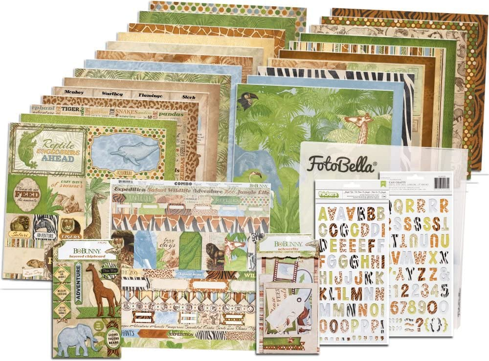 12x12 Collection Bundle Bo Bunny Jungle Life I Want It All