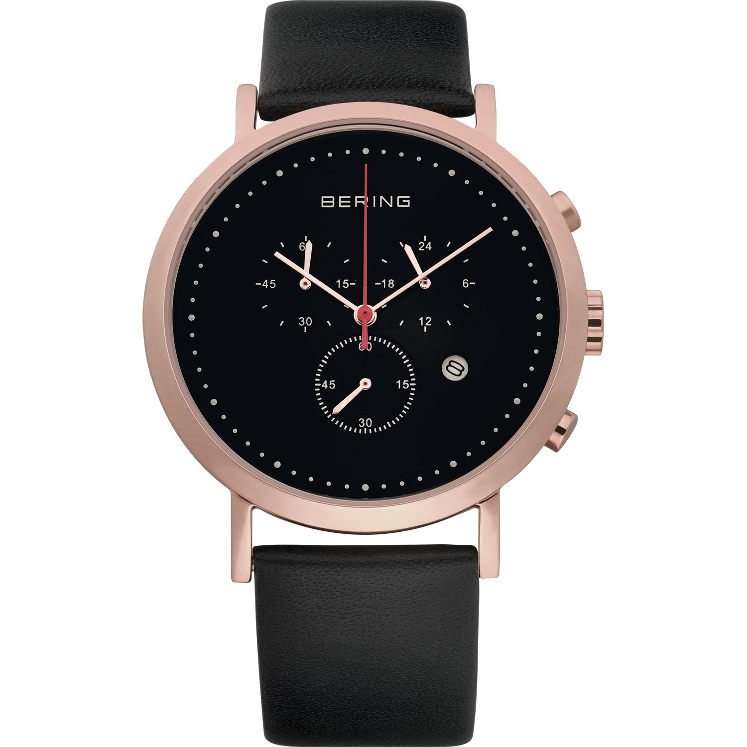 BERING Time 10540-462 Classic Collection Watch with Calfskin Band and Scratch Resistant Sapphire Crystal. Designed in Denmark.