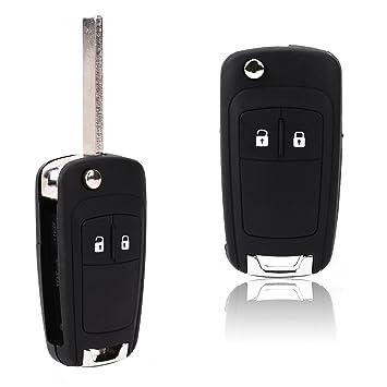 Carcasa 2 Botones de mando Recambio Llave de Coche para Vauxhall Astra Insignia: Amazon.es: Coche y moto