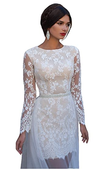 Short Wedding Dresses with Long Trains
