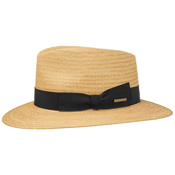 7231ac20b3aea2 Stetson Rye Straw Fedora Hat Sun Beach (M (56-57 cm) - Nature): Amazon.co.uk:  Clothing