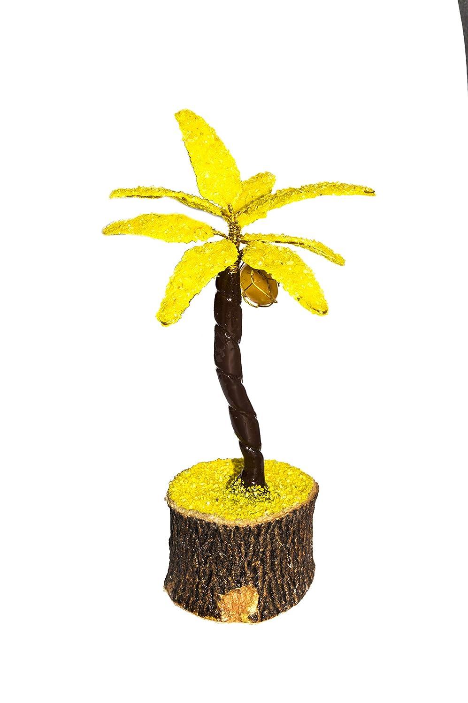 Crocon giallo Coconut guarigione naturale della pietra preziosa Money Tree for Good Luck, ricchezza e prosperità spirituale regalo Dimensioni ca. 12,7cm. ricchezza e prosperità spirituale regalo Dimensioni ca. 12 7cm.
