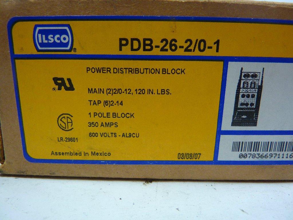 ILSCO Power Distribution Block PDB-26-2//0-1